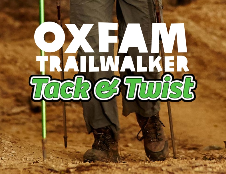 Achilles Tack & Twist – Oxfam Trailwalker Edition