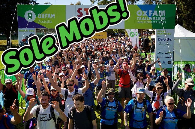 Sole Mobs – Oxfam Trailwalker Edition